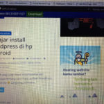 Belajar install wordpress di hp android